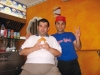Castano Primo - Angelo (a sinistra) con il titolare del locale