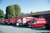 Iinveruno - Mezzi dei Vigili del fuoco fuori dalla caserma inverunese