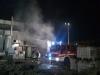 Busto Garolfo - Incendio in lavanderia industriale