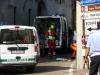 Cuggiono - Polizia locale e soccorritori sul luogo dell'incidente