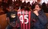 Sport (Bar Sport) - Balotelli con l'inviato di Striscia la Notiza Staffelli (Foto internet)