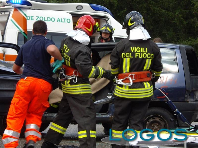 Rubriche Sociale - I Vigili del fuoco durante un intervento
