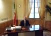 Cuggiono - Flavio Polloni Sindaco nel suo ufficio