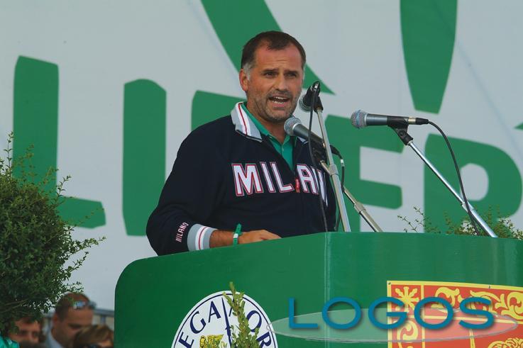 Politica - Massimo Garavaglia a un comizio