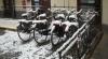 Trecate - Le bici nel cortile di via Fratelli Russi