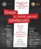 Milano - Venite a vedere questo spettacolo 2014, la locandina
