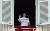 Sociale - Papa Francesco durante l'Angelus