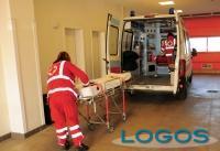Legnano - Ospedale di Legnano, un ambulanza in servizio