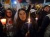 Roma - Giovani in preghiera a una veglia