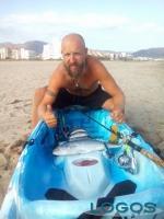 Marcallo con Casone - Luca Sestito con il suo kayak
