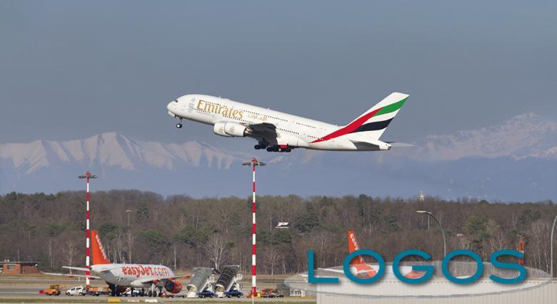 Malpensa - Un aereo in partenza