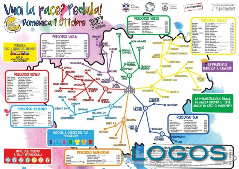 Busto Garolfo - 'Vuoi la pace? Pedala': i percorsi