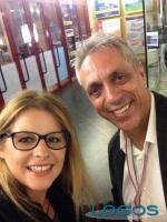 Legnano - Max Pisu con la nostra giornalista Maya Erika