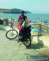 Turbigo - Cristian Malagnino durante il viaggio