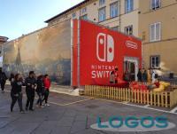 Il padiglione di Nintendo Switch in piazza Bernardini a Lucca Comics & Games