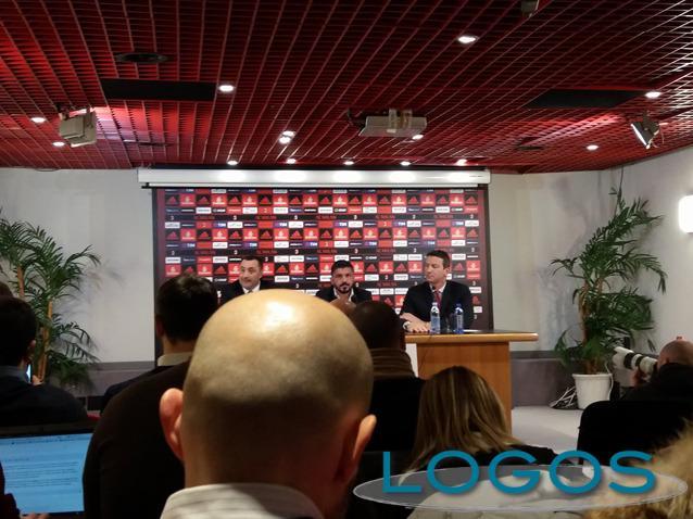 Sport - Gattuso durante la conferenza stampa