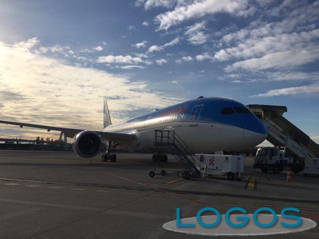 Malpensa - IL 787 Dreamliner di Neos (Foto Franco Gualdoni)
