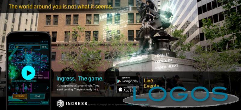 La pagina iniziale del sito di Ingress: Il mondo intorno a te non è quello che sembra.