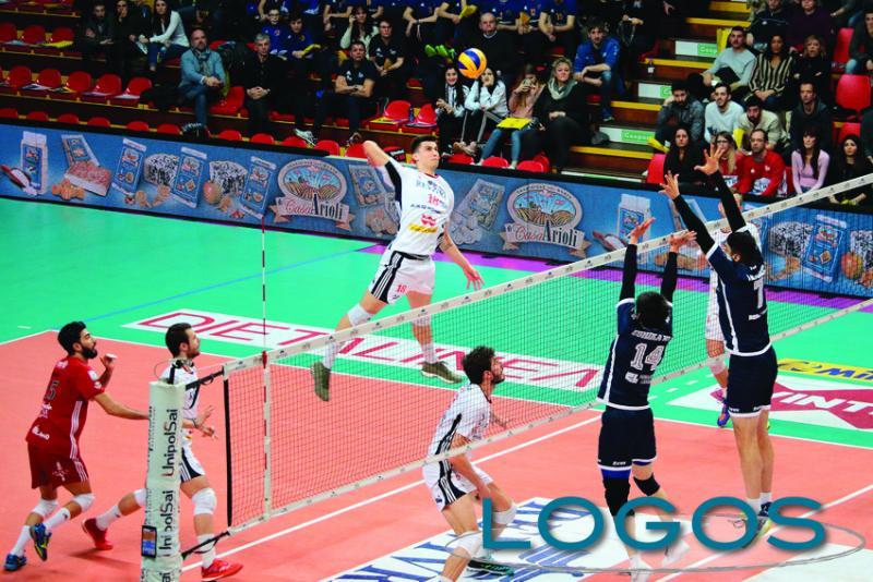 Sport - La Powervolley Milano: un'azione di gioco