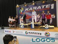 Castano Primo - Riccardo sul podio della 'Karate 1YouthLeague'