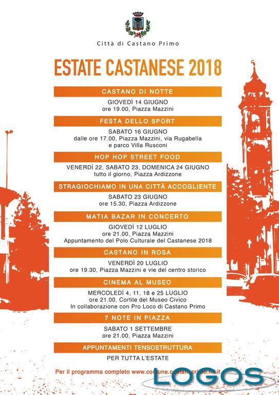 Castano Primo - Estate Castanese 2018: la locandina