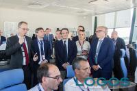 Malpensa - Il governatore Fontana durante la visita in aeroporto (Foto Eliuz Photography)