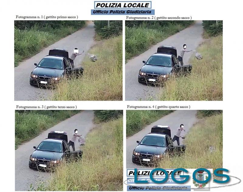 Castano Primo - Le immagini registrate dalle telecamere di sicurezza