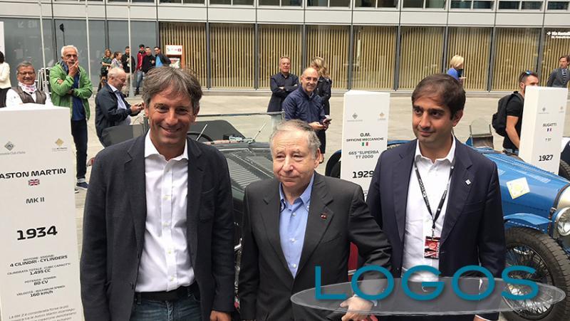 Milano / Sport - Esposizione di auto d'epoca: in visita anche Jean Todt