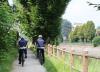 Castano Primo - La Polizia locale durante un servizio in bicicletta sul territorio (Foto d'archivio Elena Mazza)