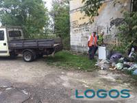 Castano Primo - Le operazioni di pulizia della zona Darsena