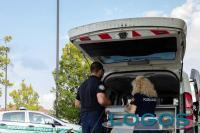 Castano Primo - La Polizia locale durante un servizio (Foto Stefano Jemma)