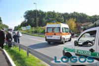 Turbigo - La Polizia locale durante un intervento per un incidente (Foto d'archivio)