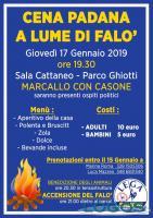 Marcallo - Cena Padana a lume di falò 2019, il programma
