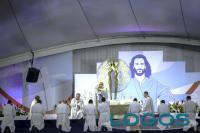 Panama - Papa Francesco al momento dell'Adorazione durante la Veglia