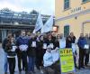 Castano Primo - Una mobilitazione della Lega Nord davanti alla stazione (Foto d'archivio)