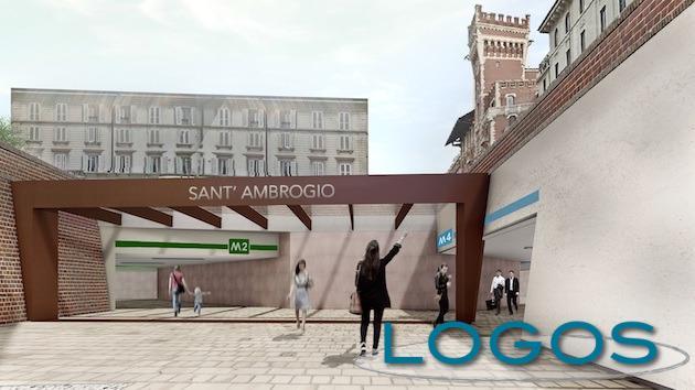 Milano - Progetto stazione M4 Sant'Ambrogio