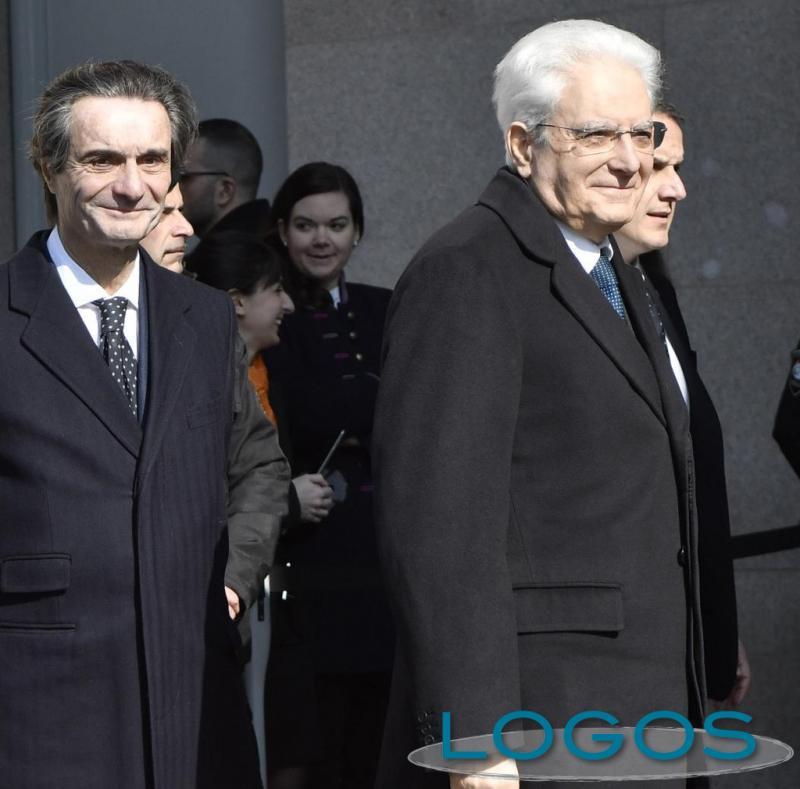 Milano - Mattarella e Fontana in Triennale