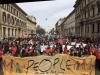 Milano - People 2 marzo, un momento della manifestazione