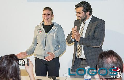 Sport - Alessia Orro con il presidente Giuseppe Pirola
