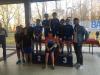 Sport - Un grupetto di giovani partecipanti con il consigliere Cavaiani