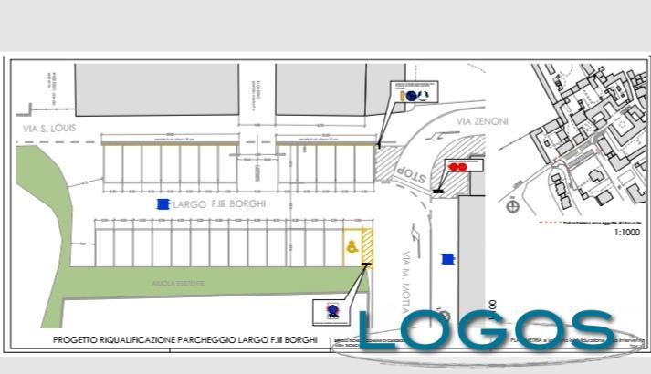 Cuggiono - Progetto per aumento parcheggi in largo Borghi