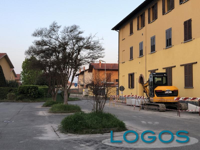 Cuggiono - Il cantiere in Largo F.lli Borghi