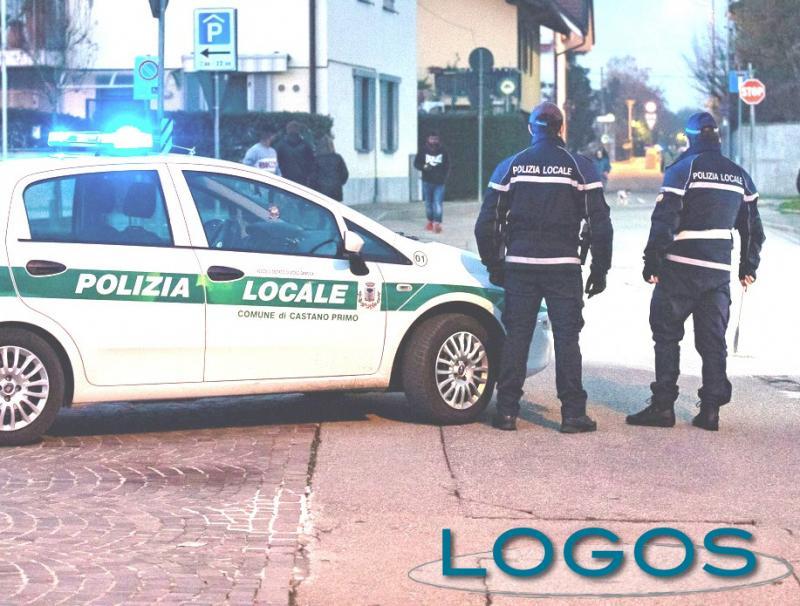 Castano - Una pattuglia della Polizia locale