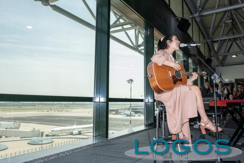 Malpensa - Levante durante la sua esibizione in aeroporto