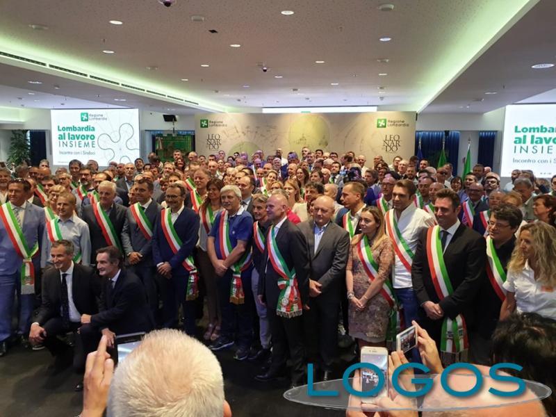Milano - Il presidente della Lombardia Attilio Fontana incontra i neo sindaci lombardi