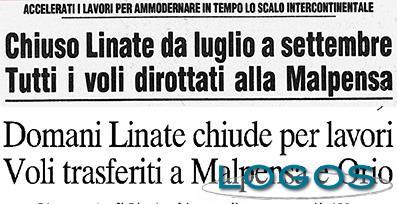 Malpensa - Nel 1982 e nel 2002 altre due chiusure di Linate