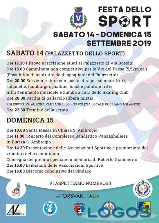 Vanzaghello - Festa dello Sport: la locandina