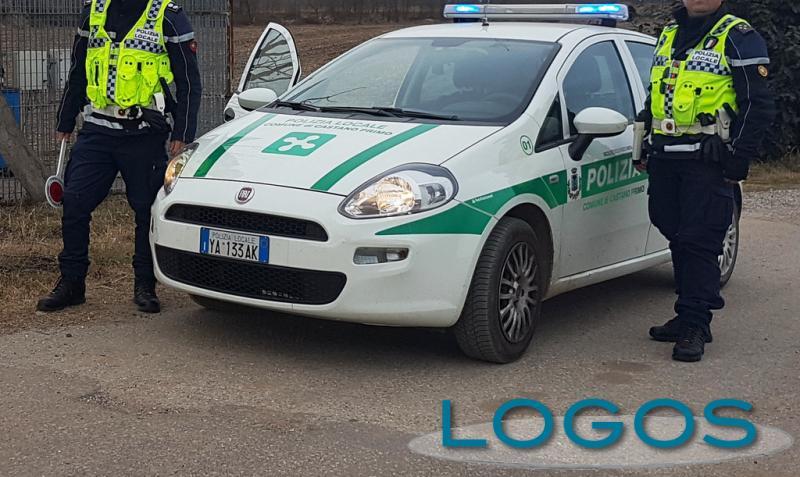 Castano Primo - Una pattuglia della Polizia locale durante un servizio