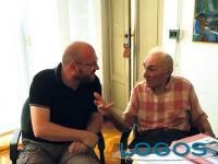 Castano Primo - Guido Stangalini, con l'assessore Luca Fusetti, in Villa Rusconi