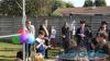 Castano Primo - Il sindaco 'baby' durante l'inaugurazione del Parco Junior (Foto d'archivio)
